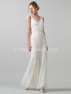US$112.29-Lovely Pearl Sleeveless Lace Wedding Dress under $200  #affordable #200 #2016 #sale. http://www.ucenterdress.com/lovely-pearl-wedding-dress-pMK_702755.html