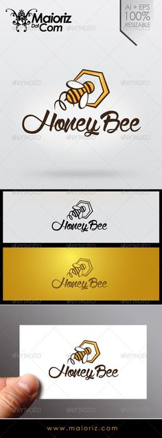 Honey Bee Logo — Transparent PNG #honey #logo • Available here → https://graphicriver.net/item/honey-bee-logo/7041485?ref=pxcr