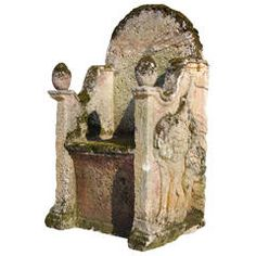 Carved Stone Throne, circa 17th Century