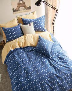 Polka Dots Stars Blue Bedding Girls Bedding Teen Bedding Kids Bedding