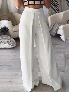 Ericdress White Wide Leg Women's Pants Ericdress White Wide Leg Women Pants the Fashion Pants, Fashion Outfits, Fashion Trends, Cheap Fashion, Sporty Fashion, Ski Fashion, Fashion Styles, Fashion Women, Winter Fashion