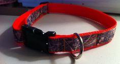 Orange Camo Dog Collar by KatiesCollars on Etsy