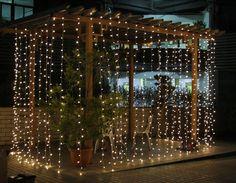 3M x2M 210 LED Christmas Holiday Warm White Curtain House Window Wall Net Lights #Christmaslight