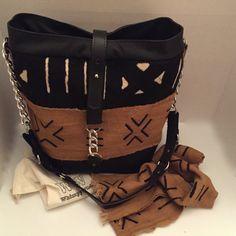 African Mud Cloth Tote, mud cloth purse, stylish mud cloth purse, modern mud cloth purse, african purse, fashion purse, african handbag