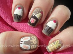 Nail Art - My B'day by DéboraWernke, via Flickr