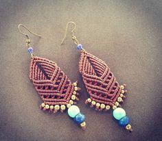 """#bollywood #macrameearrings #macrame #macramejewelry #handmade #bohojewelry…"