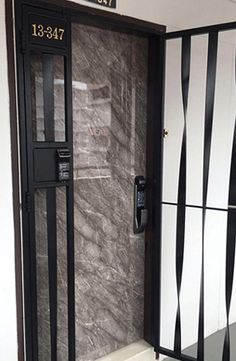 Latest Hdb Mild Steel Gate With Modern Design Yale