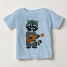 Dallas baby romper baby gifts giftidea diy unique cute baby cute cartoon raccoon playing guitar baby t shirt baby gifts child new born gift negle Gallery