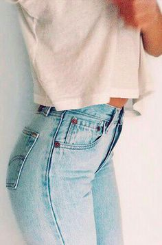 blue denim high waisted jeans size 2/3