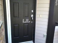 hello Vinyl Lettering Word Door or Wall Art by TheVinylCompany