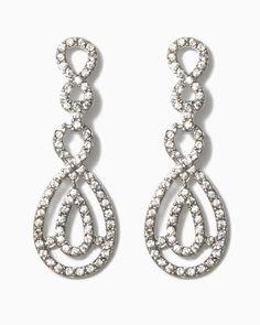 charming charlie | Rhinestone Infinity Link Earrings | UPC: 410006672703 #charmingcharlie
