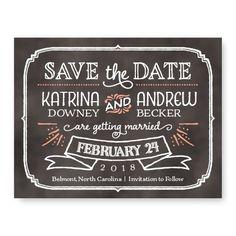 Blackboard Save The Date Cards