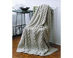 Natural Cables Throw (Knit)