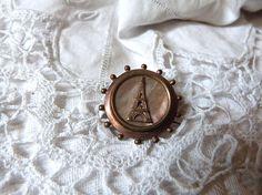 Ω Antique #French 1900s mother of pearl brooch pin #jewelry souvenir Paris... Be Inspired! http://etsy.me/2fYIevT