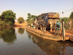 Aminah our crossing the in Overland Truck, West Africa, Trucks, River, Truck, Rivers