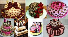 Bolo decorado de oncinha com pasta americana Birthday Cake, Desserts, Food, Theme Cakes, Sweet Like Candy, Making Stencils, Leopard Prints, Recipe Journal, Decorating Cakes