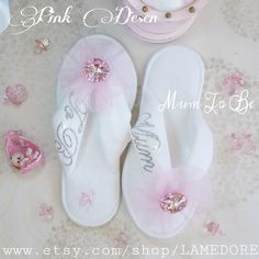 Hey, I found this really awesome Etsy listing at https://www.etsy.com/listing/247793322/mum-to-be-flipflops-baby-shower-velour