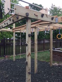 Cliff Hanger, Rumbling Dice, Salmon Ladder, and other Ninja Warrior Obstacles - All For Backyard Ideas