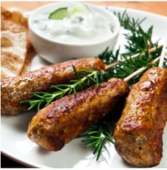 Thermomixing Lamb Koftas Lamb Koftas, Greek Recipes, Fodmap Recipes, Thermomix Recipes Healthy, Cooking Recipes, Tzatziki, Cantaloupe Recipes, Radish Recipes, Ground Lamb Recipes