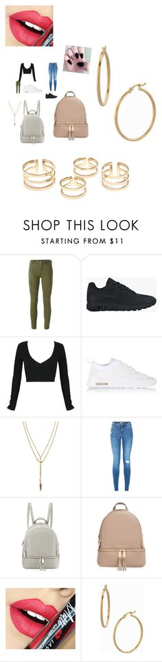 """""""Untitled #972"""" by fashionicon67 ❤ liked on Polyvore featuring 7 For All Mankind, NIKE, WithChic, Vanessa Mooney, MICHAEL Michael Kors, Fiebiger, Bony Levy, women's clothing, women's fashion and women"""
