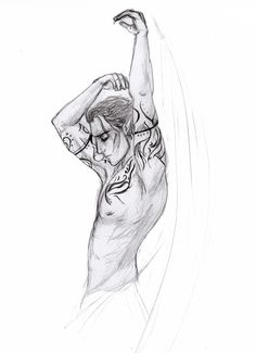Rhys sketch using a life drawing reference.