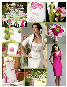 Bright pink and green wedding inspiration