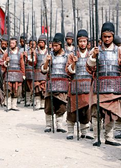 Chinese soldiers in armor Karate Styles, Chinese Armor, Armor Clothing, Armor All, Asian History, British History, Fantasy Armor, Historical Clothing, Historical Photos