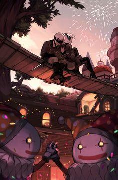 and - NieR:Automata Video Game Art, Video Games, Nier Automata A2, Drakengard Nier, Fanart, Best Waifu, Video Game Characters, Anime Meme, Amusement Park