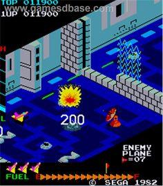 Zaxxon (1982) Classic Video Games, Retro Video Games, Retro Games, Atari Video Games, Computer Video Games, Pac Man, Old School Arcade Games, Game Boom, Console