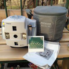 Working Polaroid Macro 5 SLR 1200 With carrying case Test shot taken on expired Polaroid film