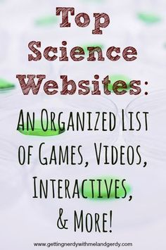 An organized list of top science websites for your interactive classroom! Biology Lessons, Science Lessons, Life Science, Science Daily, Science Space, Science Quotes, Science Lesson Plans, Science Experiments, Science Resources