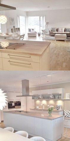 Kitchen Room Design, Kids Room Design, Modern Kitchen Design, Interior Design Kitchen, Home Living Room, Living Room Designs, House Extension Plans, Modern Kitchen Interiors, Küchen Design
