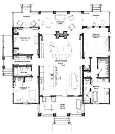 Open Floor House Plans 1938sq ft open floor plan lrdrkit open like most of this I Like The Foyer Study Open Concept Great Room And Kitchen Portion Of This Floor Plan And How The Stairs Are Out Of The Waybut Would Move Kid Be