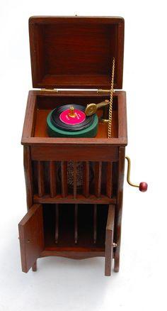 Vtg Dollhouse Miniature Victorian Cabinet Victrola Artisan Rae Backes Music Room