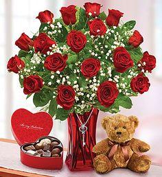 680fd6ec59851 Valentine s Day Abundant Love Premium Long Stem Roses - 18 Stems with Key