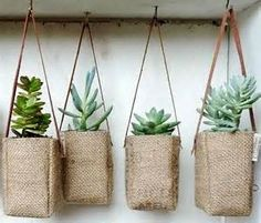 Creative Ideas with hessian planters - Bing Images