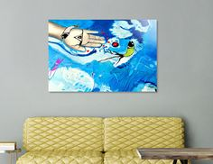 Discover «FISHING HAND», Limited Edition Acrylic Glass Print by Cora de Lang - From 95€ - Curioos