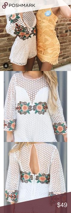 Ooh la luxe boutique Augustus playsuit romper Size medium. So cute just didn't fit me :( new with tags. As seen on Joelle fletcher. LF Dresses Long Sleeve