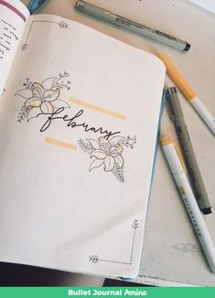 Do this but write may instead of feb Bullet Journal Inspo, Bullet Journal Weekly Layout, Bullet Journal Month, Bullet Journal Cover Page, Journal Pages, Bullet Journal September Cover, Bullet Journals, Filofax, Bullet Art