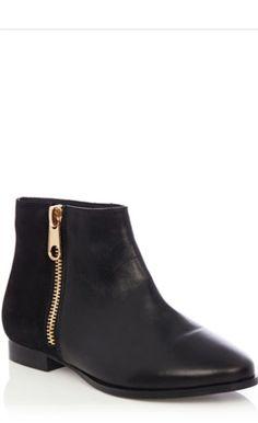 Gold zip Chelsea boot | Oasis