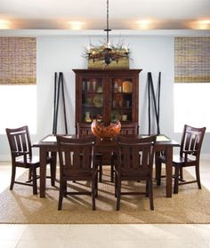 Stonewater Dining Table with Six Cherry Chairs by Kincaid Furniture - Knoxville Wholesale Furniture - Dining 7 (or more) Piece Set Knoxville, Tennessee Cheap Dining Room Sets, Dining Room Table, Solid Wood Furniture, Dining Furniture, Furniture Ideas, Kincaid Furniture, Beautiful Dining Rooms, Wholesale Furniture, Furniture Collection