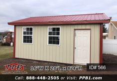 Pole Building Dimensions: W x L x H (ID# A One Car Garage or Storage Standard Trusses, on Center Pitch Metal Siding, Metal Roof, Car Garage, Garage Doors, Pole Buildings, Garage Design, 4 H, Garage Storage, Garages