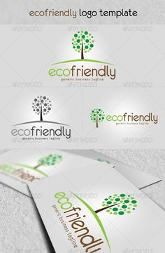 Eco Friendly' - Logo Design Template Vector #logotype Download it here: http://graphicriver.net/item/eco-friendly-logo/1858796?s_rank=218?ref=nexion