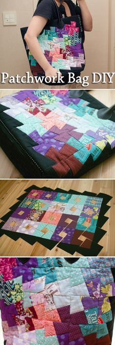 Patchwork Bag. DIY step-by-step tutorial.Пошив сумки в технике пэчворк. http://www.handmadiya.com/2015/08/patchwork-bag-diy.html