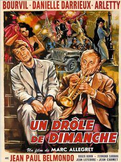UN DROLE DE DIMANCHE Cinema Posters, Film Posters, Jean Lefebvre, Film Mythique, Foreign Movies, Film Movie, Good Movies, Comics, Showgirls