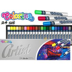 Colorino Artist Olajpasztell készlet - 24 darabos Art Supplies, Artist, Artists