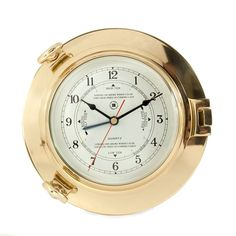 Featured Gift - Brass Porthole Time Tide Clock by Bey Berk. BLACK FRIDAY SALE PRICED, SHOP NOW!