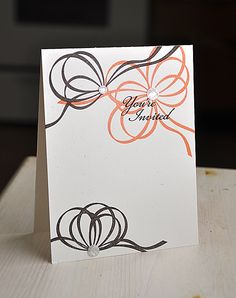 Ribbon Invitation by Maile Belles for Papertrey Ink (December 2012)