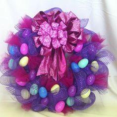 Easter Egg Wreath on Nancy's new blog! ndoorsonline.net