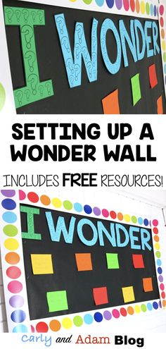 Students who ask questions take ownership of their education and learn how to problem solve. Wonder Bulletin Board, Stem Bulletin Boards, Interactive Bulletin Boards, Bulletin Board Display, Display Boards, Maths Classroom Displays, Classroom Decor Themes, New Classroom, Science Classroom
